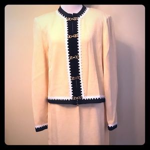 Pastel Yellow St. John Collection Cardigan Suite!!